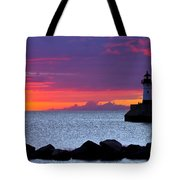 Sunrise Sailing Tote Bag by Mary Amerman