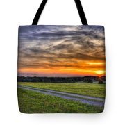 Sunset And The Road Home Tote Bag by Reid Callaway