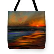 Sunset At Capo Beach In California Tote Bag by Angela A Stanton
