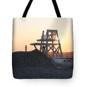 Sunset At Jones Beach Tote Bag by John Telfer