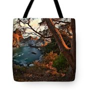 Sunset At Mcway Falls Tote Bag by Adam Jewell