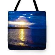 Sunset At Parksville Beach Tote Bag by Christi Kraft