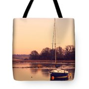 Sunset At The Creek Tote Bag by Pixel Chimp