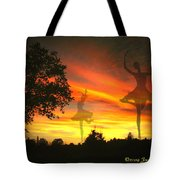 Sunset Ballerina Tote Bag by Joyce Dickens
