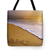 Sunset Beach Tote Bag by Carlos Caetano