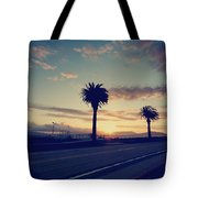 Sunset Drive Tote Bag by Laurie Search