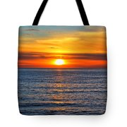 Sunset In San Clemente Tote Bag by Mariola Bitner