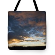 Sunset In Utah Tote Bag by Delphimages Photo Creations
