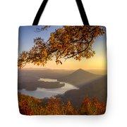 Sunset Light Tote Bag by Debra and Dave Vanderlaan