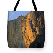 Sunset On Horsetail Fall Tote Bag by Jim and Emily Bush