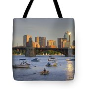 Sunset On The Charles Tote Bag by Joann Vitali