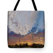 Sunset Over Bay Point Tote Bag by Laura Lee Zanghetti