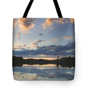 Sunset Over Flying Pond In Vienna Maine Tote Bag by Keith Webber Jr