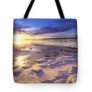 Sunset Over Knik Arm & Six Mile Creek Tote Bag by Michael DeYoung