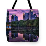Sunset Over Midtown Tote Bag by Doug Sturgess
