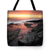 Sunset Over Rocky Coastline Tote Bag by Johan Swanepoel