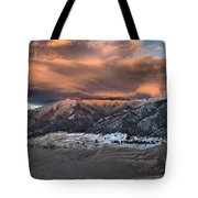 Sunset Over The Dunes Tote Bag by Adam Jewell