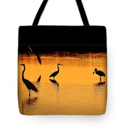 Sunset Silhouette Tote Bag by Al Powell Photography USA