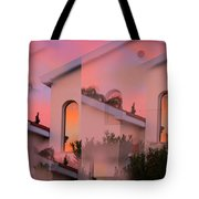 Sunsets on Houses Tote Bag by Augusta Stylianou