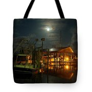 Super Moon at Nelsons Tote Bag by Michael Thomas