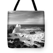 Surf At Cambria Tote Bag by Barbara Snyder