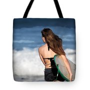 Surfer Girl Tote Bag by Michelle Wiarda