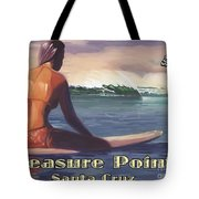 Surfer Girl Pleasure Point Tote Bag by Tim Gilliland