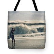 Surfer Watch Tote Bag by Laura Fasulo