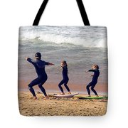 Surfing Lesson Tote Bag by Stuart Litoff