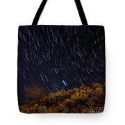 Surprise Trailhead Startrails Tote Bag by Benjamin Reed