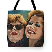 Susan Sarandon And Geena Davies Alias Thelma And Louise Tote Bag by Paul Meijering