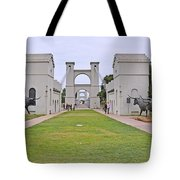 Suspension Bridge Waco Tx Tote Bag by Christine Till