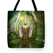 Swan Goddess Tote Bag by Carol Cavalaris