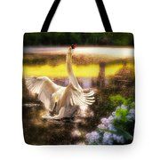 Swan Lake Tote Bag by Lois Bryan
