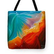 Swan Nebula Tote Bag by Barbara McMahon