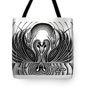 Swan Song  Tote Bag by Barb Cote