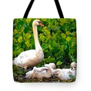 Swan Song Tote Bag by Frozen in Time Fine Art Photography