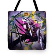 Sweet Loving Dreams In Halloween Night Tote Bag by Alessandro Della Pietra