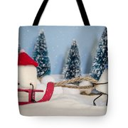 Sweet Sleigh Ride Tote Bag by Heather Applegate
