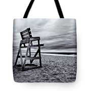 Swim At Your Own Risk Tote Bag by Mark Miller