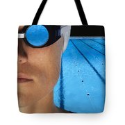 Swimmer With Goggles Tote Bag by Don Hammond