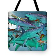 Swimming with the Big Boys Tote Bag by Betsy C  Knapp