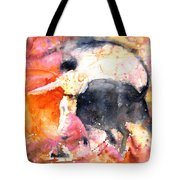 Swinging Yellow And Pink Tote Bag by Miki De Goodaboom