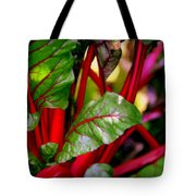 Swiss Chard Forest Tote Bag by Karen Wiles