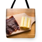 Swiss Food - Dried Meat And Cheese Tote Bag by Matthias Hauser