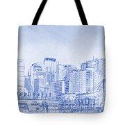 Sydney's Cockle Bay Blueprint Tote Bag by Kaleidoscopik Photography
