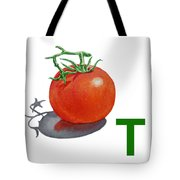 T Art Alphabet For Kids Room Tote Bag by Irina Sztukowski