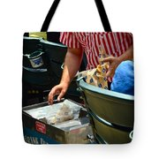 Take Me Out To The Ball Game Tote Bag by Frozen in Time Fine Art Photography