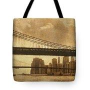 Tale of Two Bridges Tote Bag by Joann Vitali