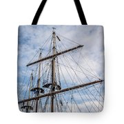 Tall Ship Masts Tote Bag by Dale Kincaid